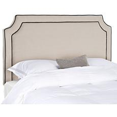 Safavieh Dane Notched Headboard with Piping- King