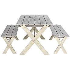 Safavieh Marina 3-piece Picnic Table Set