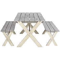 Safavieh Marina 3-piece Picnic Table Set