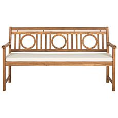 Safavieh Montclair Brown 3-Seat Bench
