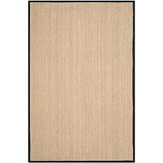 Safavieh Natural Fiber Casey 6' x 9' Seagrass Area Rug - Black