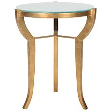 Safavieh Ormond Mirror-Top Goldtone-Leaf Accent Table