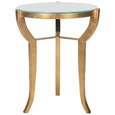 Safavieh Ormond Mirror-Top Goldtone-Leaf Accent Table