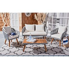 Safavieh Ransin 4-piece Outdoor Living Set