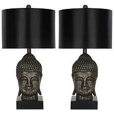 Safavieh Set of 2 Golden Buddha Table Lamps