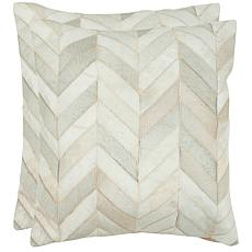 "Safavieh Set of 2 Marley 22"" x 22"" Cowhide Pillows"