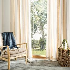 "Safavieh Vari Window Panel - Natural/White Stripe - 52"" x 84"""