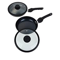 "Safe-T-Grip 2-pack 9"" Fry Pan Set with Lids"