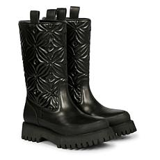 Saint G Megan Embroidered Pull-on Leather Boots