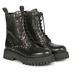 Saint G Natalie Studded Leather Lace-Up Boots