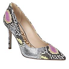 Sam Edelman Hazel Snake-Embossed Leather Pump