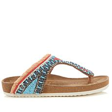 Sam Edelman Olivie 2 Beaded Fringe Footbed Sandal