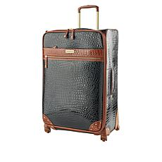 "Samantha Brown 26"" Spinner Croco Embossed Suitcase"