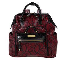 Samantha Brown Embossed Backpack