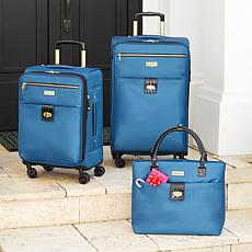 Samantha Brown Luggage Set with 2 Spinners, Tote and Packing Cubes