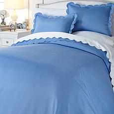 Samantha Yanks Scalloped Cotton-Rich Duvet Set