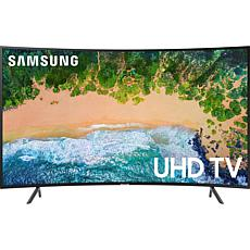 "Samsung 55"" NU7300 Curved 4K UHD Smart TV with PurColor & UHD Dimming"