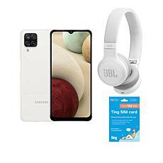 "Samsung Galaxy A12 6.5"" HD+ 64GB Unlocked GSM Smartphone w/Headphones"