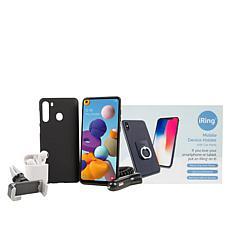 "Samsung Galaxy A21 6.5"" HD+ Tracfone Bundle w/1500 Minutes/Texts/Data"