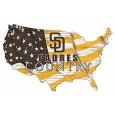 San Diego Padres USA Shape Flag Cutout