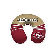 San Francisco 49ers Wave Memory Foam Uneck Travel Pillow