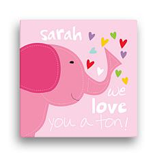 Sandra Magsamen Pink Elephant Personalized Wall Art