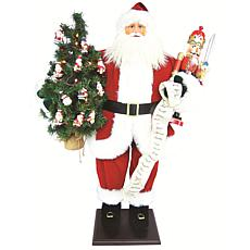 "Santa's Workshop 36"" Traditional Santa with Nutcracker"