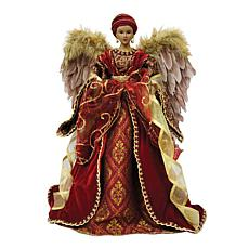 Santa's Workshop African-American Angel Tree Top - 16""