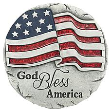 Santa's Workshop Cement God Bless America Stepping Stone