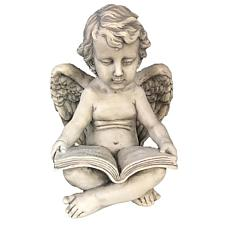 Santa's Workshop Reading Cherub Statue