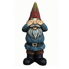 Santa's Workshop See No Evil Gnome Statue