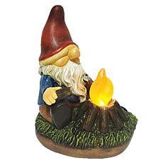 Santa's Workshop Solar Campfire Gnome