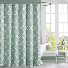 "Saratoga Geometric Shower Curtain - Seafoam/72"" x 72"""