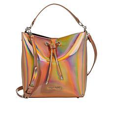 Sassy Jones Emma Patent Faux Leather Bucket Bag