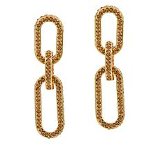 Sassy Jones Pavé Crystal Link Drop Earrings