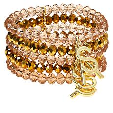 Sassy Jones Sassy Multi-Row Beaded Stretch Bracelet