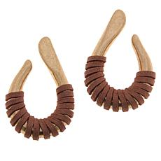 Sassy Jones Tezra Suede-Wrapped Drop Earrings