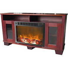 Savona Fireplace Mantel w/Electronic Fireplace Insert