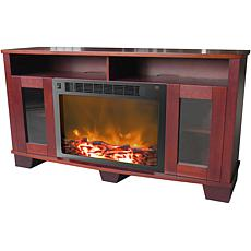 Savona Fireplace Mantel w/Electronic Fireplace Insert