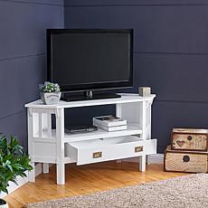 Savoya Corner TV Stand - White