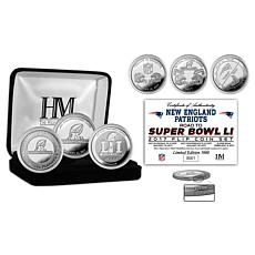 SB LI New England Road to the Super Bowl Coin Set