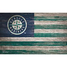 Seattle Mariners Distressed Flag 11x19