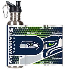 Seattle Seahawks Stainless Steel Water Bottle with Meta