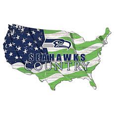 Seattle Seahawks USA Shape Flag Cutout