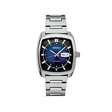 Seiko Men's Square Case Stainless Steel Automatic Watch