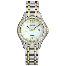 Seiko Women's Two-Tone Stainless Steel Crystal Bezel Watch