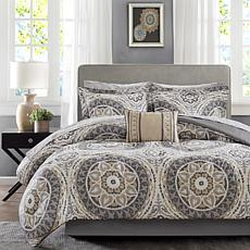 Serenity Cal King 9pc Complete Bed and Sheet Set-Taupe