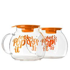 Set of 2 Microwavable Popcorn Poppers