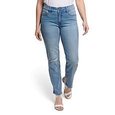 """Seven7 29"""" High-Rise Double Button Tummyless Straight Jean - Astro"""