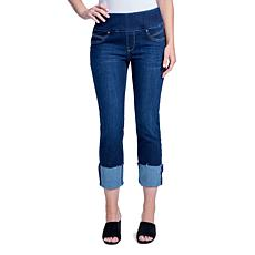 Seven7 Tummy Toner Pull-on Jean with Deep Cuff - Atlantic